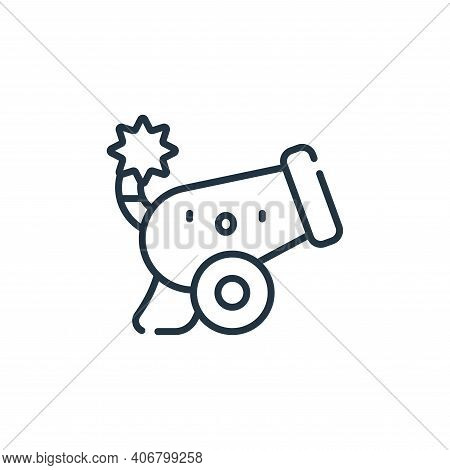 cannon icon isolated on white background from ramadan collection. cannon icon thin line outline line