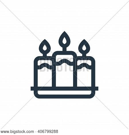 candle icon isolated on white background from mental health collection. candle icon thin line outlin