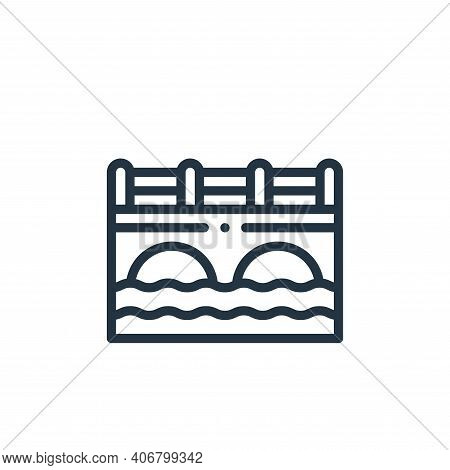 canal icon isolated on white background from holland collection. canal icon thin line outline linear