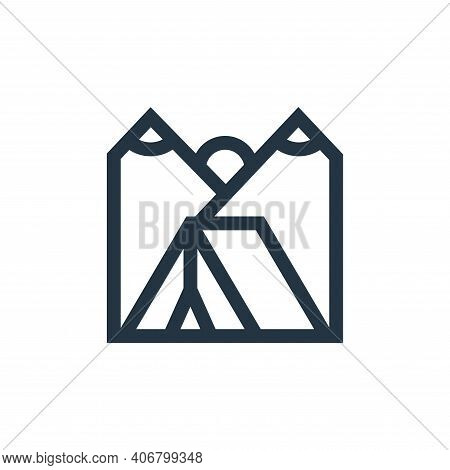 camping tent icon isolated on white background from hobbies collection. camping tent icon thin line