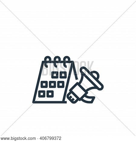 campaign icon isolated on white background from branding collection. campaign icon thin line outline