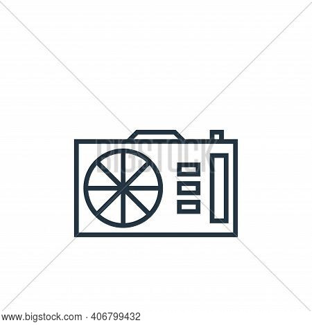 camera icon isolated on white background from school collection. camera icon thin line outline linea