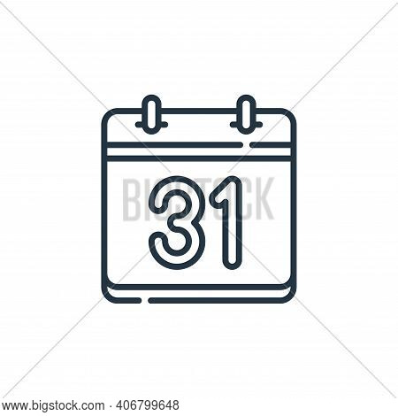 calendar icon isolated on white background from calendar and date collection. calendar icon thin lin