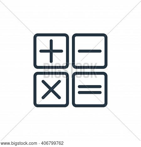 calculator icon isolated on white background from miscellaneous collection. calculator icon thin lin