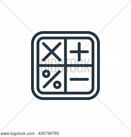 calculator icon isolated on white background from school collection. calculator icon thin line outli