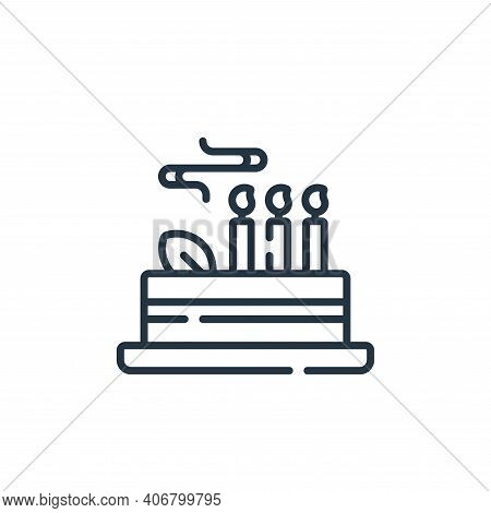cake icon isolated on white background from celebration collection. cake icon thin line outline line