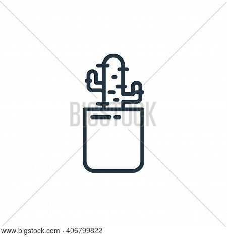 cactus icon isolated on white background from stay at home collection. cactus icon thin line outline