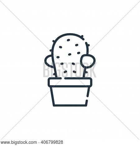 cactus icon isolated on white background from hippies collection. cactus icon thin line outline line