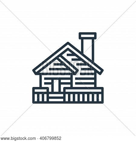 cabin icon isolated on white background from travel collection. cabin icon thin line outline linear