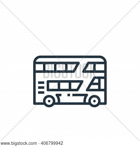 bus icon isolated on white background from travel collection. bus icon thin line outline linear bus