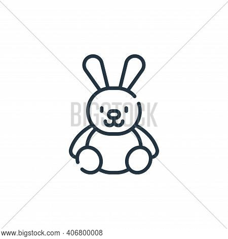 bunny icon isolated on white background from children toys collection. bunny icon thin line outline