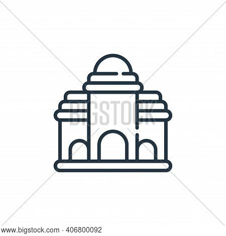 building icon isolated on white background from desert collection. building icon thin line outline l