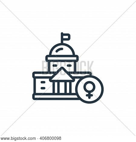 building icon isolated on white background from womens day collection. building icon thin line outli