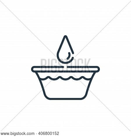 bucket icon isolated on white background from bathroom collection. bucket icon thin line outline lin