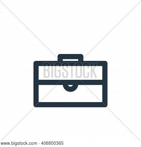 briefcase icon isolated on white background from marketing business collection. briefcase icon thin