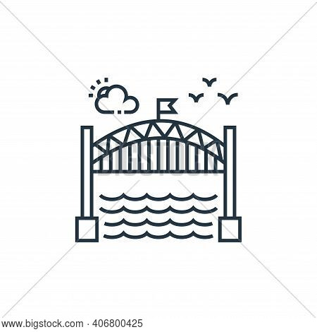 bridge icon isolated on white background from tourism collection. bridge icon thin line outline line