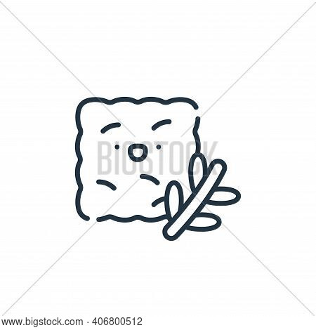bread icon isolated on white background from italy collection. bread icon thin line outline linear b