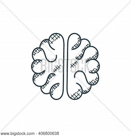 brain icon isolated on white background from technology collection. brain icon thin line outline lin