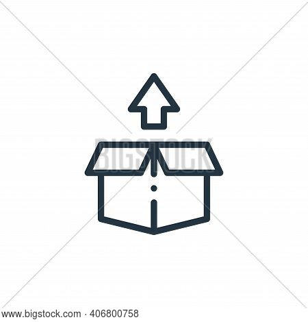 box icon isolated on white background from online shopping collection. box icon thin line outline li