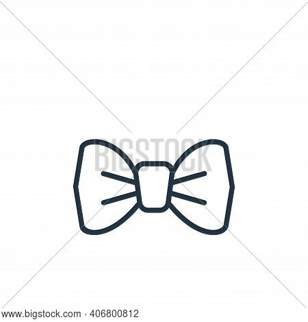 bow tie icon isolated on white background from wardrobe collection. bow tie icon thin line outline l