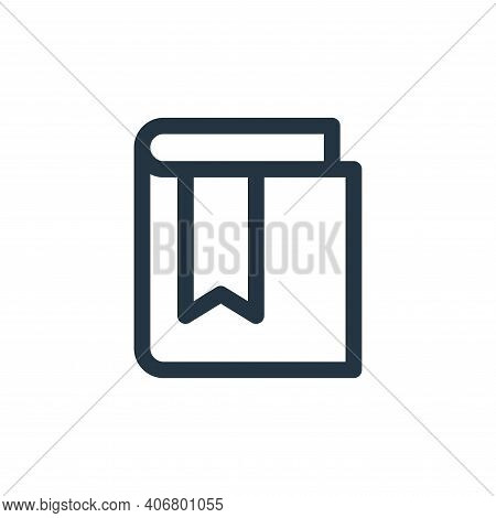 book icon isolated on white background from web apps seo collection. book icon thin line outline lin
