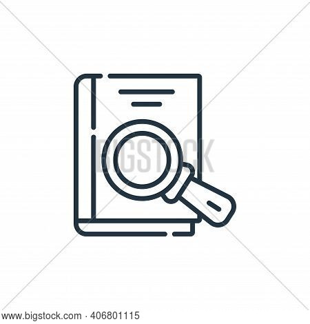 book icon isolated on white background from academy collection. book icon thin line outline linear b