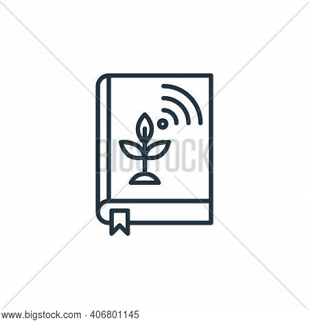 book icon isolated on white background from smart farm collection. book icon thin line outline linea