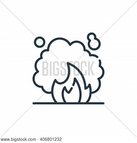 bonfire icon isolated on white background from climate change collection. bonfire icon thin line out