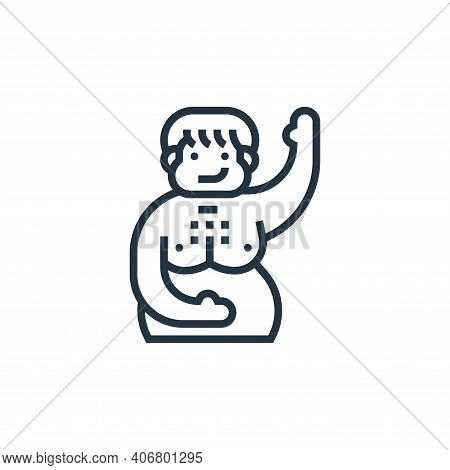 body fat icon isolated on white background from fitness collection. body fat icon thin line outline
