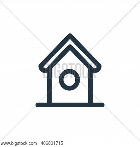 bird house icon isolated on white background from landscaping equipment collection. bird house icon