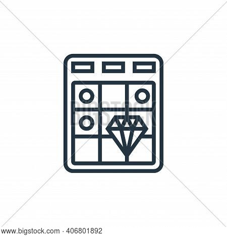 bingo icon isolated on white background from casino collection. bingo icon thin line outline linear