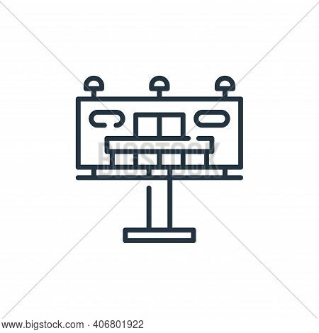 billboard icon isolated on white background from mall collection. billboard icon thin line outline l
