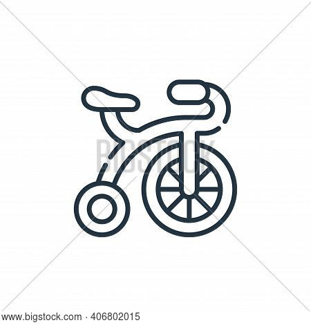bicycle icon isolated on white background from circus collection. bicycle icon thin line outline lin