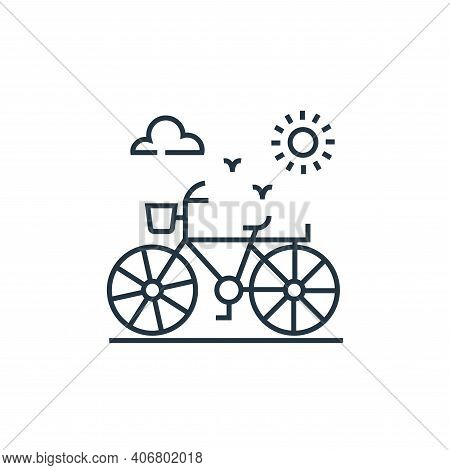 bicycle icon isolated on white background from environment and eco collection. bicycle icon thin lin
