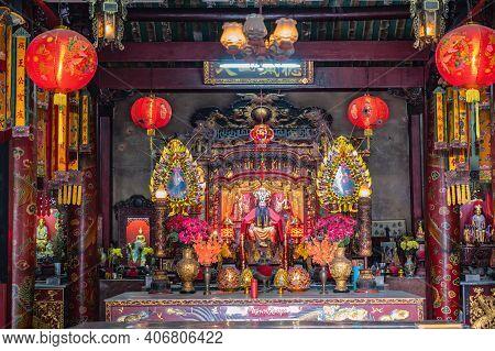 Bangkok/thailand-19 Jan 2020:rong Kuak Shrine On Talat Noi.talad Noi (talat Noi), One Of The Oldest
