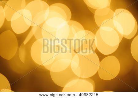 Defocused Golden Lights