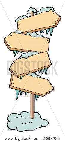 Frozen Wooden Signs
