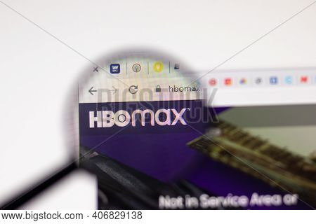 Los Angeles, Usa - 1 February 2021: Hbo Max Hbomax Website Page. Hbomax.com Logo On Display Screen,