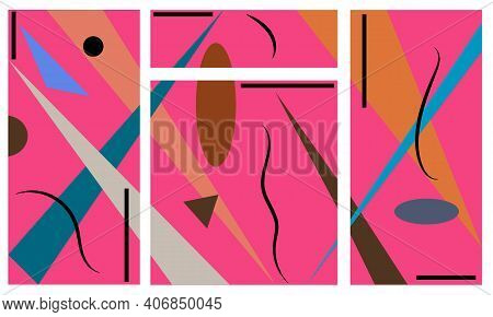 Abstract Background Colorful Shapes For Brighten Interior