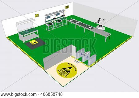 Esd Protected Area (epa) Is A Defined Space For Electrostatic Sensitive Device (esd) ,esd Concept, V