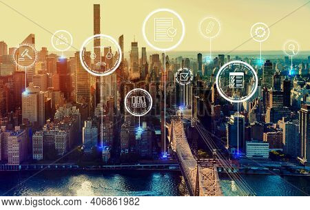Compliance Theme With The New York City Skyline Near Midtown