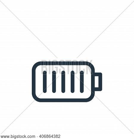battery icon isolated on white background from electronics collection. battery icon thin line outlin