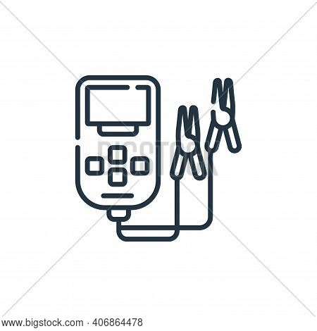 battery icon isolated on white background from electrician tools and elements collection. battery ic