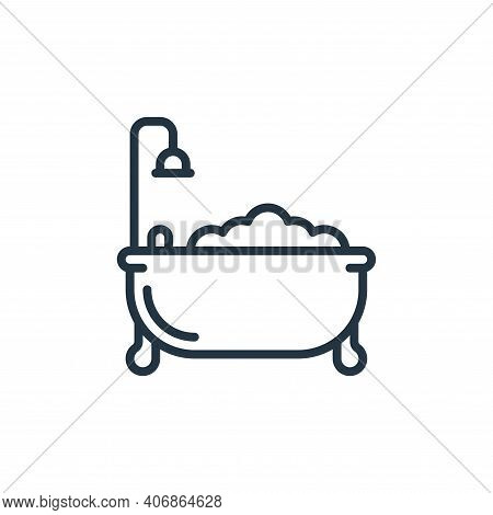 bathtub icon isolated on white background from hygiene collection. bathtub icon thin line outline li
