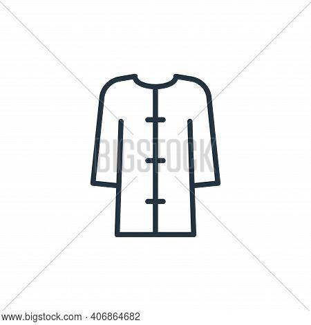 bathrobe icon isolated on white background from stop virus collection. bathrobe icon thin line outli