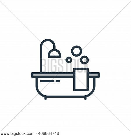 bathing icon isolated on white background from stay at home collection. bathing icon thin line outli