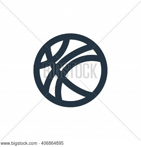 basketball icon isolated on white background from sport collection. basketball icon thin line outlin