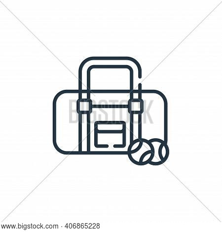 baseball bag icon isolated on white background from baseball collection. baseball bag icon thin line