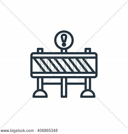 barrier icon isolated on white background from motorway collection. barrier icon thin line outline l