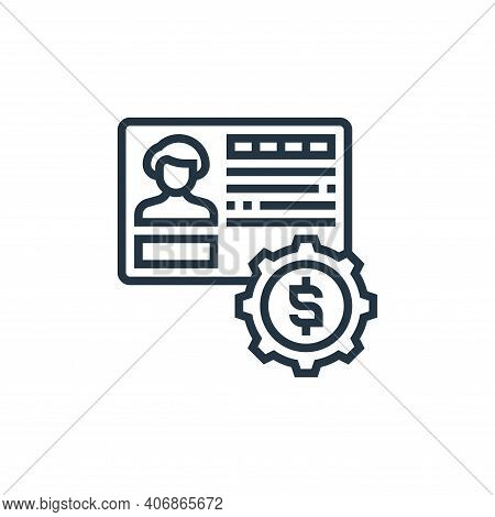 bank account icon isolated on white background from payment element collection. bank account icon th